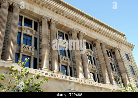 Front of Commonwealth Bank of Australia, Perth - Stock Image