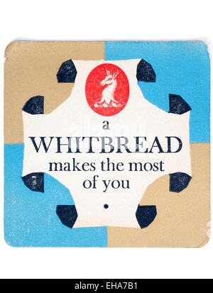 Vintage Beermat Advertising Whitbread Beer - Stock Image