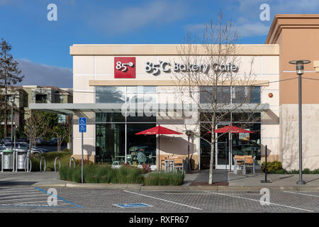 85°C Bakery Cafe, Cupertino, California, USA - Stock Image