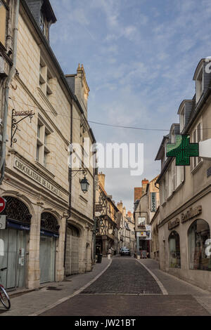 The PIcturesque Houses o Bourges France - Stock Image