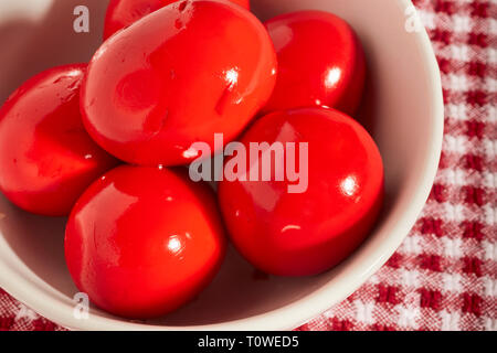Red beet eggs, a Pennsylvania Dutch Specialty - Stock Image