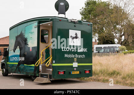 A mobile Lloyds Bank vehicle parked. - Stock Image