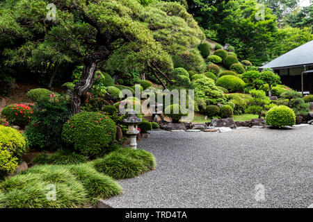 Eirinji or Eirinji Jokoden Temple located in Shimo-Yugi in Hachioji Tokyo.  The temple is selected as one of Hachioji Hachiji-Hakkei 88 Scenic Places - Stock Image