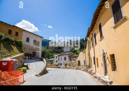 Arquata del Tronto,Italy. 29 April 2017. The damage caused by the earthquake that hit central Italy in 2016. Arquata - Stock Image