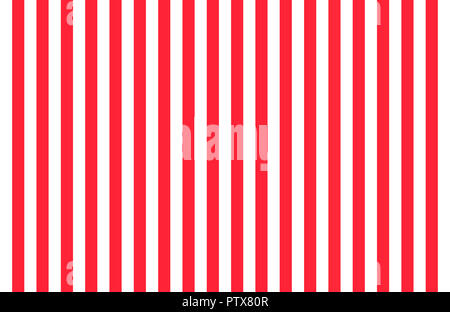 Pattern of vertical, same size black and white stripes with copy space, seamless design of symmetrical lines forming pleasing, optical pattern - Stock Image