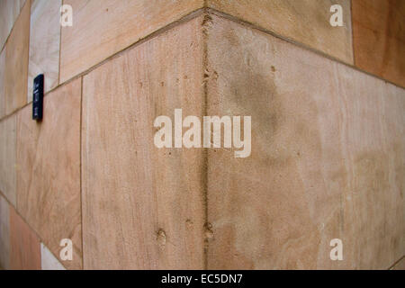 close up of a corner of a house - Stock Image