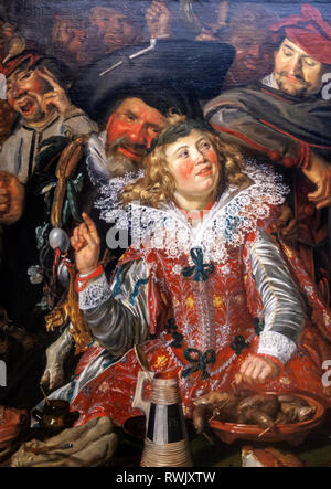 Frans Hals, Merrymakers at Shrovetide, The Metropolitan Museum of Art, Manhattan, New York USA - Stock Image