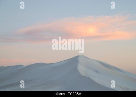 Close-up of a sand dune at dusk, Australia - Stock Image