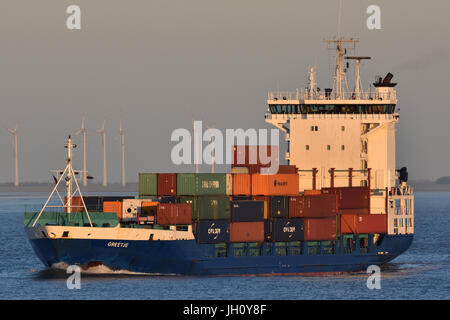 Feedervessel Greetje - Stock Image