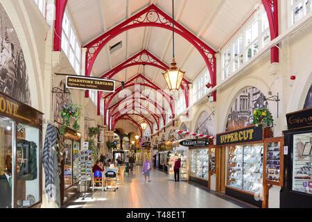 Victorian Market Arcade, Academy Street, Inverness, Highland, Scotland, United Kingdom - Stock Image