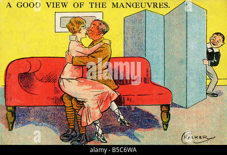 1900s Edwardian Comic Art Postcard EDITORIAL USE ONLY - Stock Image