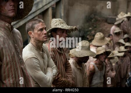 PAPILLON, CHARLIE HUNNAM, 2017 - Stock Image