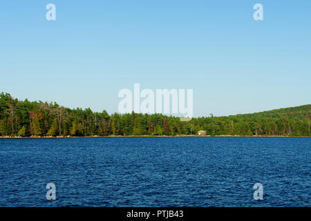 View of Eagle Lake in Acadia National Park, Maine, USA. - Stock Image