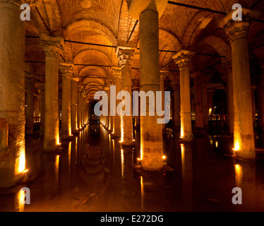 The Basilica Cistern in Sultanahmet Istanbul Turkey - Stock Image