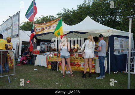 Gambia Cuisine Food Stall At Africa Oye Music Festival in Sefton park, Liverpool. - Stock Image