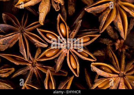 Star anise full frame background. - Stock Image