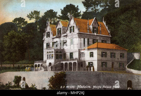 Monte Palace Hotel, near Funchal, Madeira.      Date: circa 1908 - Stock Image