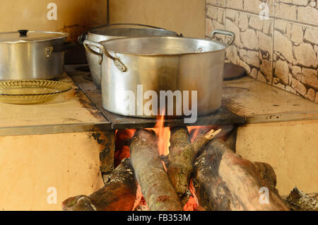 Brazilian typical wood stove - Stock Image