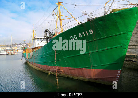 The boat museum of Musee de la Peche - Stock Image