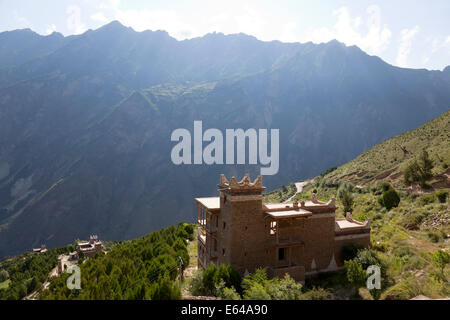 Tibetan houses, Jaiju Zangxhai Village, Jaiju Valley nr Danba, Sopo area, Sichuan, China - Stock Image