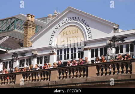 Punch and Judy Bar Covent Garden Market summer 2017 - Stock Image