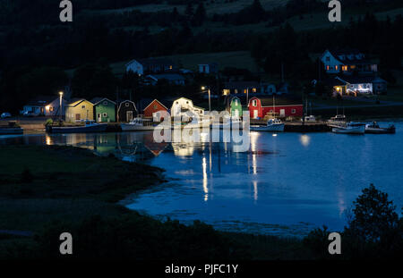 An evening view of the harbour at French River, Prince Edward Island - Stock Image