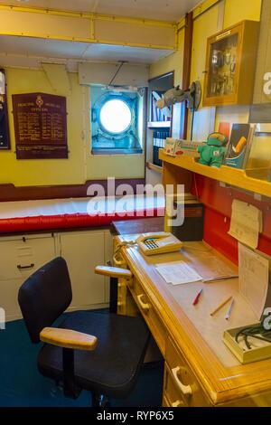The Ship's Doctor's Room, Royal Yacht Britannia, Port of Leith, Edinburgh, Scotland, UK - Stock Image