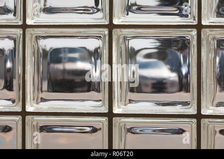 Glass brick wall (glass block wall) - USA - Stock Image