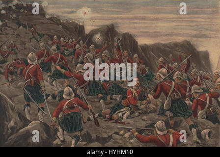 Charge of the Gordon Highlanders at Dargai 1897 - Stock Image