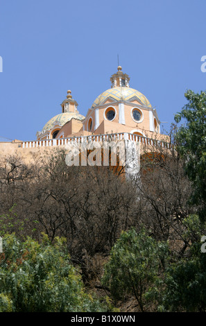 Nuestra Senora de los Remedios Church also Called Iglesia de Mercedes on Great Pyramid of Cholula, Tepanapa, Cholula, - Stock Image