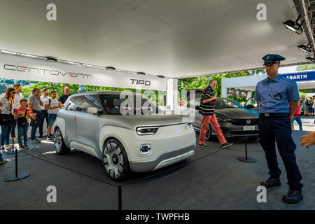 Turin, Piedmont, Italy. 22nd June 2019. Italy Piedmont Turin Valentino park Auto Show 2019 - Fiat 120 Credit: Realy Easy Star/Alamy Live News Credit: Realy Easy Star/Alamy Live News - Stock Image