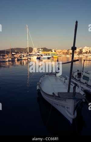 Fishing boats at Cala Ratjada harbour, Majorca, Balearic Islands, Spain - Stock Image