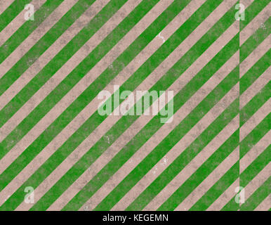 cement wall with green stripes - Stock Image