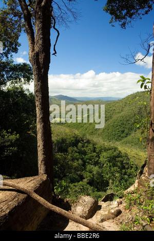 On the Way to Agua Fria Waterfall Chapada dos Veadeiros Veadeiros Tableland Goias Brazil - Stock Image
