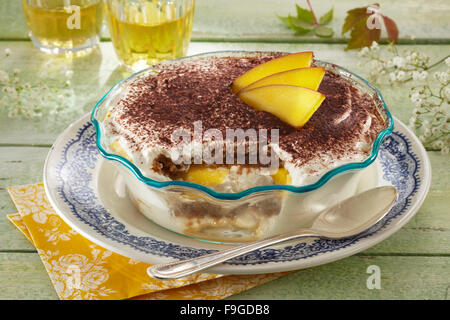 Mango tiramisu - Stock Image