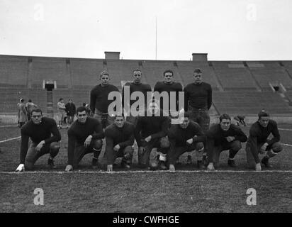 Yale Football team, ca 1940 - Stock Image