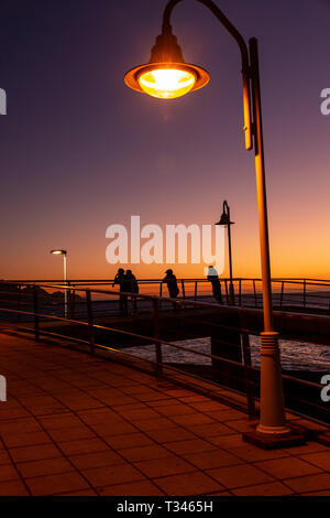 Dusk at Puerto de Las Nieves, Gran Canaria, Canary Islands - Stock Image