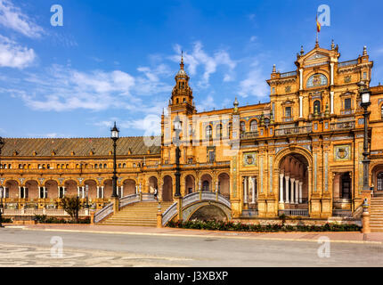 Plaza de Espana (Spain square) in Seville, Andalusia - Stock Image