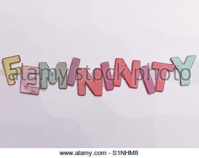 femininity (word) - Stock Image