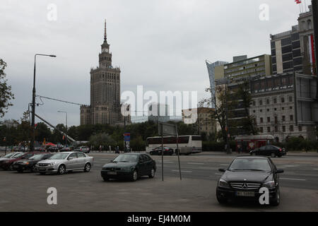 Palace of Culture and Science in Warsaw, Poland. - Stock Image
