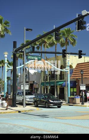 Section of Atlantic Avenue, Daytona Beach, Florida, USA - Stock Image