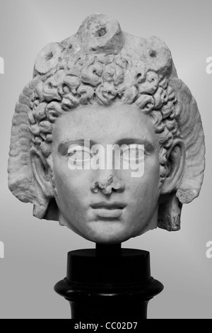 Marble portrait head of Alexander the Great - Stock Image