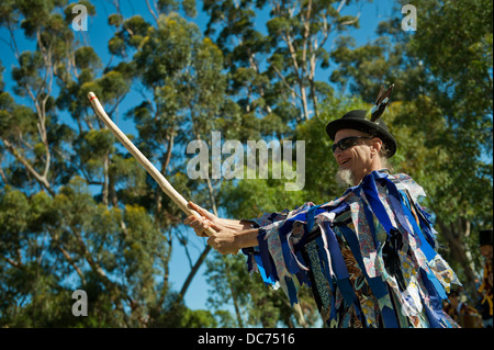male Morris Dancer - Stock Image