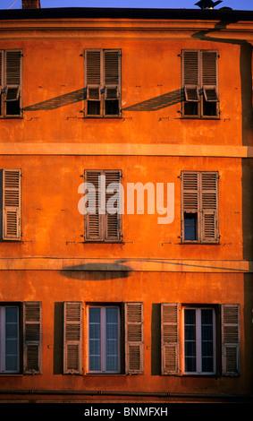 Shuttered windows in Nice. - Stock Image
