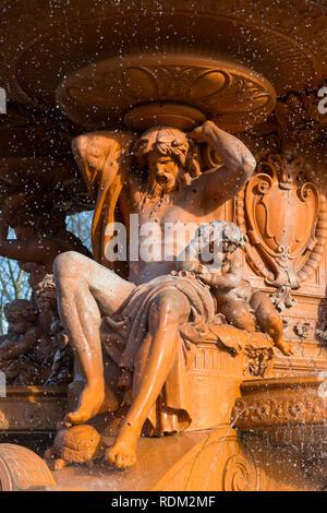 The Hubert fountain, Victoria park, Ashford, Kent, uk - Stock Image