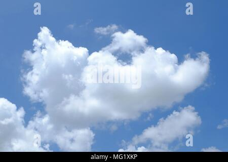 White Clouds with Blue Sky. - Stock Image