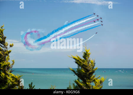Red Arrow Airbourne, Eastbourne Air Show 2017 - Stock Image