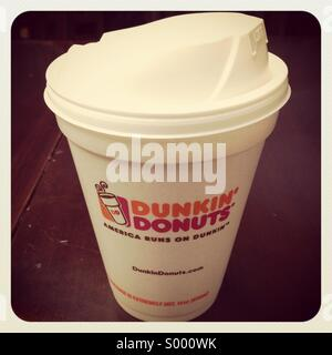 Dunkin donuts coffee cup - Stock Image