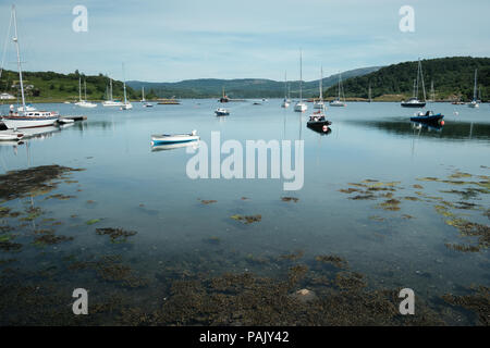Harbour at Tayvallich, Argyll, West Coast of Scotland , on the banks of Loch Sween - Stock Image