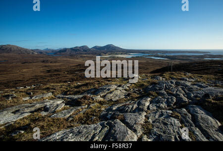 Landscape of Lewis and Harris, Outer Hebrides, Scotland - Stock Image